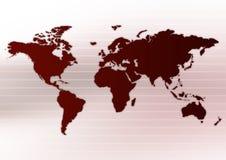 Disposição de Worldmap Foto de Stock Royalty Free