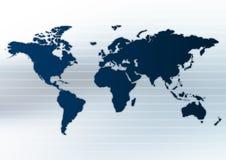 Disposição de Worldmap Fotos de Stock Royalty Free