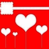 Disposição do álbum de recortes do coração Imagens de Stock