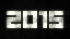 A disposição do ano 2015 de cintilação ilumina - o laço de 4k 30fps ilustração stock