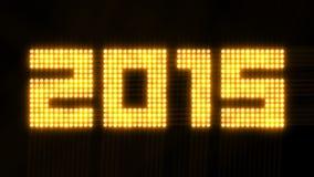 A disposição do ano 2015 de cintilação ilumina - o laço de 4k 30fps ilustração royalty free