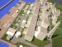 Disposição do central nuclear de Fukushima Fotos de Stock Royalty Free