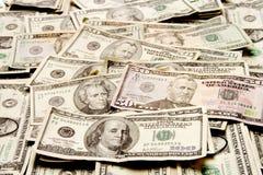Disposição do dinheiro Fotos de Stock Royalty Free