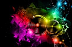 Disposição do inseto do clube noturno do disco com forma do orador ilustração royalty free