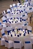 Disposição do local do casamento Fotografia de Stock Royalty Free