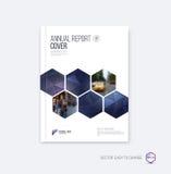 Disposição do molde do folheto, informe anual do projeto da tampa, compartimento, ilustração royalty free