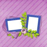 Disposição do Scrapbook Imagens de Stock
