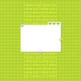 Disposição do Scrapbook em cores verdes Fotografia de Stock Royalty Free