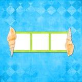 Disposição do Scrapbook no tema marinho Imagem de Stock Royalty Free