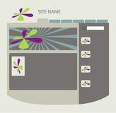 Disposição do Web site Fotos de Stock Royalty Free