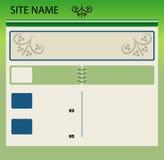 Disposição do Web site Imagem de Stock