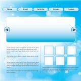 Disposição do Web site Foto de Stock Royalty Free