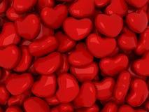 Disposição dos corações Imagens de Stock Royalty Free