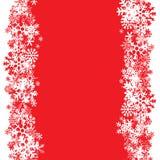 Disposição dos flocos de neve Fotos de Stock Royalty Free