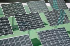 Disposição dos painéis solares Imagem de Stock