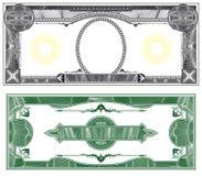 Disposição em branco da nota de banco ilustração do vetor