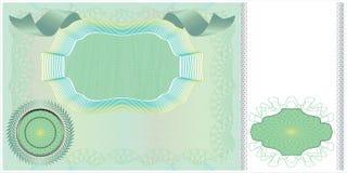 Disposição em branco da nota de banco Foto de Stock Royalty Free