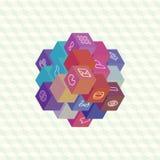 Disposição infographic da projeção isométrica de cubos Fotografia de Stock Royalty Free