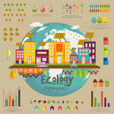 Disposição infographic do molde da ecologia criativa Fotografia de Stock Royalty Free