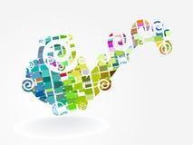 Disposição Multicolor do mosaico, eps10 ilustração royalty free