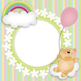 Disposição para a flutuação do urso de peluche dos babys Fotos de Stock Royalty Free