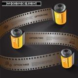 Disposição realística abstrata do molde do projeto da fotografia do filme Fotos de Stock