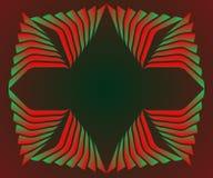 Disposição vermelha e verde decorativa do texto do quadro do inclinação ilustração stock
