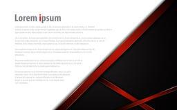 Disposição vermelha moderna abstrata do fundo do conceito do esporte da tecnologia do molde do quadro ilustração stock