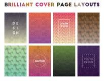 Disposições de capa brilhantes ilustração stock