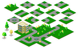 Disposições do mapa com estradas