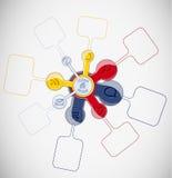 Disposición abstracta de la forma Imágenes de archivo libres de regalías