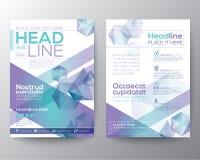 Disposición abstracta de la plantilla del vector del diseño del polígono para el aviador del folleto de la revista