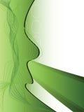 Disposición abstracta en verde Fotografía de archivo