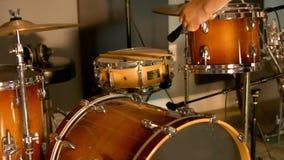 Disposición acústica del estudio de los tambores metrajes