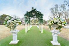 Disposición al aire libre 27 de la boda Fotos de archivo libres de regalías