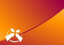 Disposición anaranjada de la navegación Imagen de archivo libre de regalías