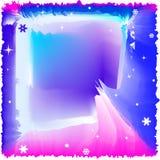 Disposición azul abstracta del invierno ilustración del vector