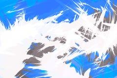 Disposición cobarde de la explosión del azul ilustración del vector