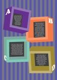 Disposición coloreada de los cuadrados Foto de archivo