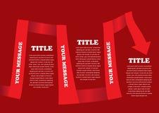 Disposición coloreada rojo de la cinta del vector Imagen de archivo