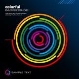 Disposición colorida abstracta. Vector. Imágenes de archivo libres de regalías
