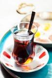 Disposición con el desayuno turco tradicional Fotografía de archivo libre de regalías
