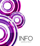 Disposición de alta tecnología de los elementos futuristas del diseño Imagen de archivo libre de regalías