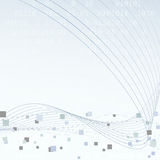 Disposición de alta tecnología geométrica de la tecnología Imagen de archivo libre de regalías