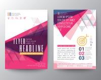 Disposición de diseño abstracta del aviador del folleto del cartel de la forma del triángulo