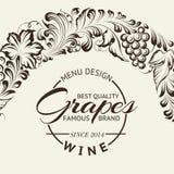 Disposición de diseño de la carta de vinos en la pizarra. Vector Imagen de archivo libre de regalías