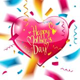 Disposición de diseño del día del ` s de la madre Fotografía de archivo