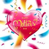 Disposición de diseño del día del ` s de la madre Fotos de archivo