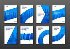 Disposición de diseño de la cubierta del folleto fijada para el negocio imágenes de archivo libres de regalías