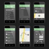 Disposición de diseño móvil del app del viaje Imagen de archivo libre de regalías